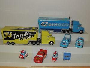 Disney Pixar CARS Lot #42 #34 Hauler Semi Truck Trailer Diecast Vehicles