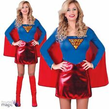 Womens Ladies Super Hero Woman Girl Hen Comic Heroine Fancy Dress Costume Outfit