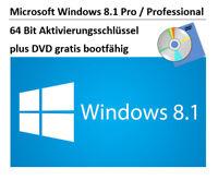 Microsoft Windows 8.1 Pro / Professional 64 Bit KEY plus DVD GRATIS