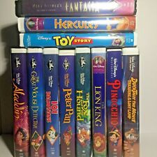 Used Walt Disney Animated VHS Lot x11 AS IS Pinocchio Toy Story Lion King +8