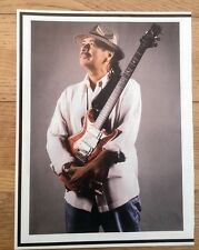 CARLOS SANTANA 'cradles guitar' magazine PHOTO/Poster/clipping 11x8 inches