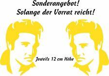 Autoaufkleber -2 Porträt Elvis Presley  links und rechts blicken 12cm!! Art. 899