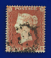 1854 SG17 1d Red-Brown C1(1) CB Good Used Cat £35 dcbz