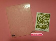 Sizzix FLOWERS #7 floral bloom blossom texture embossing A2 folder NEW (160)