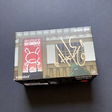 """3"""" KABUKI DUNNY [RED] · HUCK GEE · GOLD LIFE 2 PACK · KIDROBOT · NEW & SIGNED"""