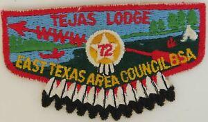 OA Tejas Lodge 72 Pre-fdl Flap LBL Bdr. East Texas Area Council, BSA [TK-365]