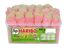 Haribo Giant Strawbs Zing Fizzy Strawberries Tub Pick 'N Mix Sweets Kids Candy