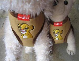 Hunde Softgeschirr Brustgeschirr Welpengeschirr easy Comfort süße Löwe XS S M L
