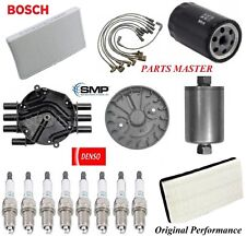 Tune Up Kit Air Oil Fuel Filters Cap Spark Plugs For GMC YUKON V8;5.7L;4WD 96-00