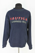 """Vtg NAUTICA """"Wilderness Trail"""" Spellout Spell Out Fleece Pullover Sz L"""