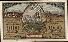 ALLEMAGNE;BAYERN,TRAUSTEIN;1000 Marks;1922;RARE/:L233