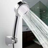 Water Shower Head Super Low-Pressure Boosting Bath Saving Pinhole Abs Chrome Jet
