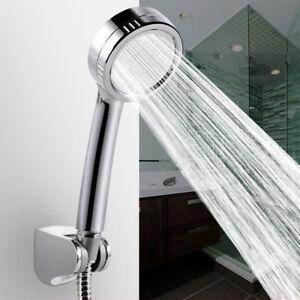 Water Shower Head Super Low-Pressure Boosting Bath Saving Pinhole Abs Chrome Jet