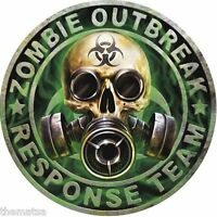 ZOMBIE OUTBREAK RESPONSE TEAM SKULL HELMET BUMPER CAR STICKER DECAL MADE IN USA