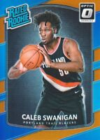 2017-18 Donruss Optic Orange #175 Caleb Swanigan 159/199 Portland Trail Blazers