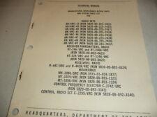 RADIO TECHNICAL MANUAL VRC 12,43,44,45,46, ETC ARMY MARINES AIR FORCE .