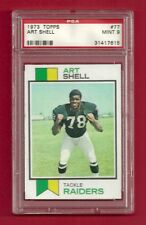 1973 TOPPS #77 ART SHELL ROOKIE RC PSA 9 MINT LOW POP ONLY 4 HIGHER HOF RAIDERS
