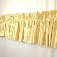 Croscill 3 Valances Park Avenue Blouson Yellow White Stripe 79 x 17 Baby Nursery