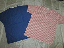 2 Pc Trix V Neck Scrub Tops With Pockets Size Small   # 982