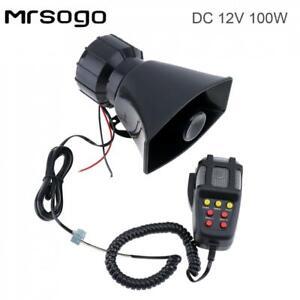 100W 7 Sound Emergency Loud Speaker Car Warning Alarm Siren Amplifier with MIC