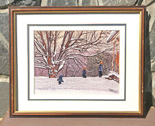 Deep Snow Limted Edition Winter Art Print By Thelma Winter
