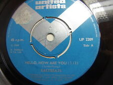 "The Easybeats – Hello How Are You 1968 7"" United Artists UP 2209"