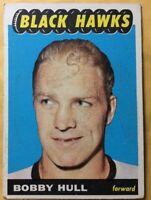 """1965-66 Topps #59 BOBBY HULL """"Golden Jet""""~EX+ Condition~ Nice Overall Looking"""