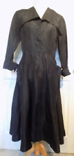 New listing Vintage 50s Black Rayon Acetate Fit and Flare Dress B40
