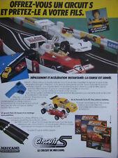PUBLICITÉ PRESSE 1979 LE CIRCUIT DE MECCANO CHAQUE JOUET DÉCOUVERTE -ADVERTISING