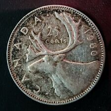 1950 Quarter Dollar 25 Cents Canada - Silver