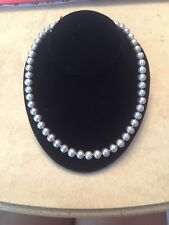 AUTHENTIC SILVER PEARL NECKLACE STRAND WITH STERLING SILVER 925 CLASP