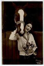 Ragazza in tenuta da Maneggio Cavallo Horse Lady RP PC Vera Foto Viaggiata 1926
