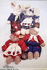 "Hickory Stick stuffed teddy bear 16"" pattern bunny 21"""