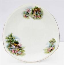 Vintage Bone China Country Cottage Garden ensalada de placa de la torta