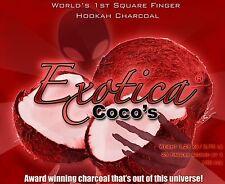 100pcs Exotica Cocos Coco Coconut Hookah Natural Charcoal Coals Shisha 100pcs