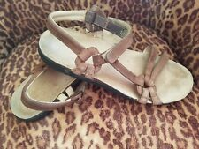Teva Ventura Cork 6389 Brown Leather Ankle Strap Sandals Shoes Women's Size: 10