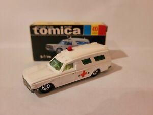 TOMICA 40 - TOYOTA AMBULANCE [WHITE] NEAR MINT VHTF BOX GOOD JAPAN