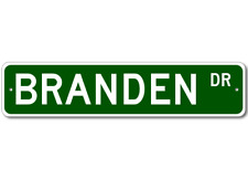 BRANDEN Street Sign - Personalized Last Name Signs