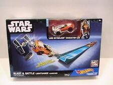 NEW Star Wars Hot Wheels Luke Skywalker Blast and Battle Lightsaber Launcher