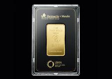 1 Oz / 31,1g Gramm Feingold HEIMERLE & MEULE Gold Barren 1 Unze Goldbarren NEU