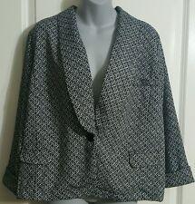 Women's Blazer Light Dressy Jacket Black White Jaclyn Smith Classy Size XXL NWT