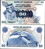 UGANDA 50 SHILLINGS 1973 P 8 c AU-UNC