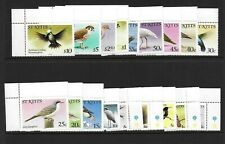 1981 St Kitts Birds SG53A-70A Unmounted Mint