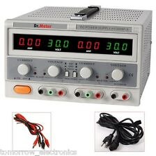 Dr.Meter HY3005F-3 Variable 3-Output Linear DC Power Supply 30V 5A 110V LED