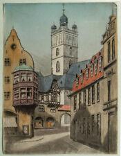 Darmstadt, colorierte aguafuerte de los años 30er (K)