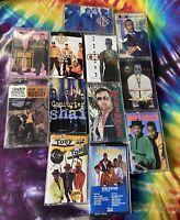 Lot Of 12 VTG 90's Hip Hop & R&B Cassette Tapes - Jodeci MC Hammer Etc