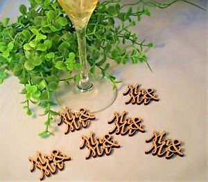 Mr and Mr Wooden Table Wedding Confetti Wood Vintage Gay Civil Partnership