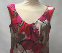 COAST BOLD MULTI COL FLORAL SHIFT DRESS LINED UK 14 EX CON