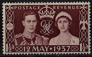Great Britain 1937 King George VI and Queen Elizabeth /Mi:GB 197/ 1.5 d STAMP MH