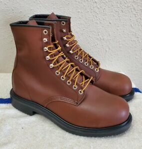 New Red Wing Shoes Supersole 8 Inch Safety Toe Men's Boots 2233 SZ:10.5 Wide EEE